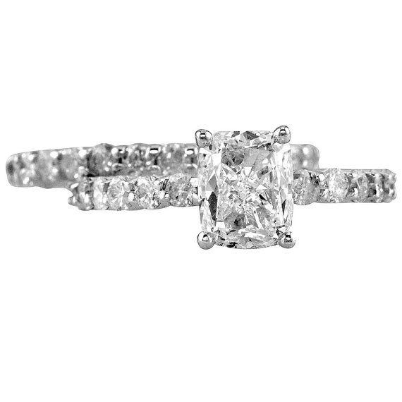 2.66 Carat GIA Bridal Set Pave Eternity by GoelTalaDiamondsInc, $5719.39