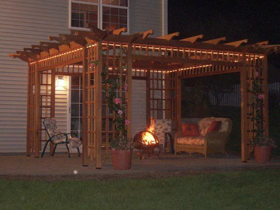 How To Build A Pergola Attached To The House Wood Projects