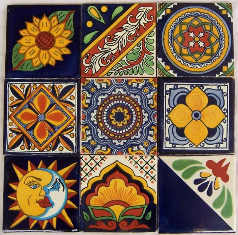 Spanish Mediterranean decor 9 Hand Painted Talavera