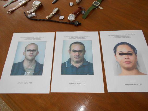 """Furto alla gioielleria """"Montelupo"""" di Langhirano, arrestati i 3 rapinatori"""