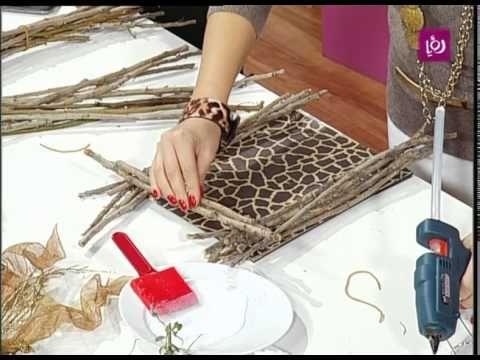 فاي سابا تصنع تحفة خشبية من أغصان الشجر Decorative Tray Home Decor Tray