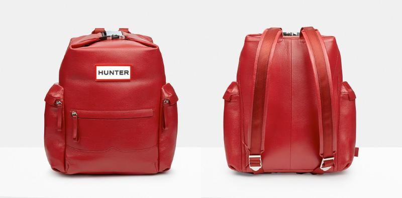 the original top clip leather backpack from the Hunter Original AW14 collection