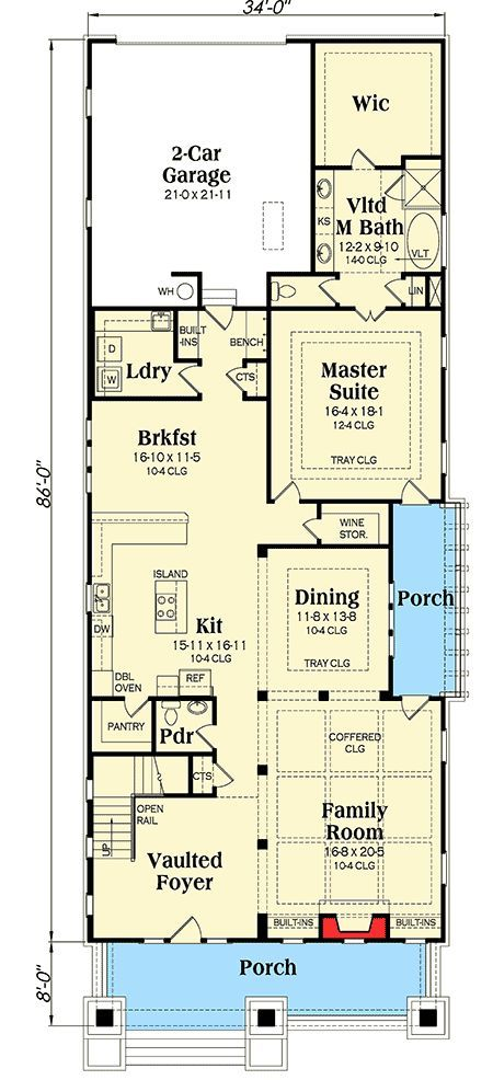 3 bed crowd pleasing bungalow house plan 75552gb 1st floor rh pinterest com