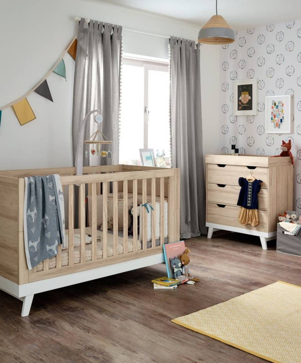 lawson 2 piece nursery furniture set with cotbed dresser natural rh pinterest com