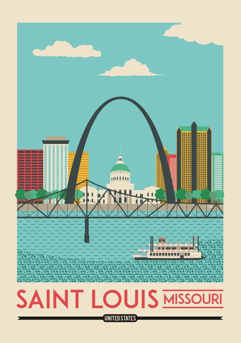 Saint Louis Print Saint Louis Poster Saint Louis Wall Art