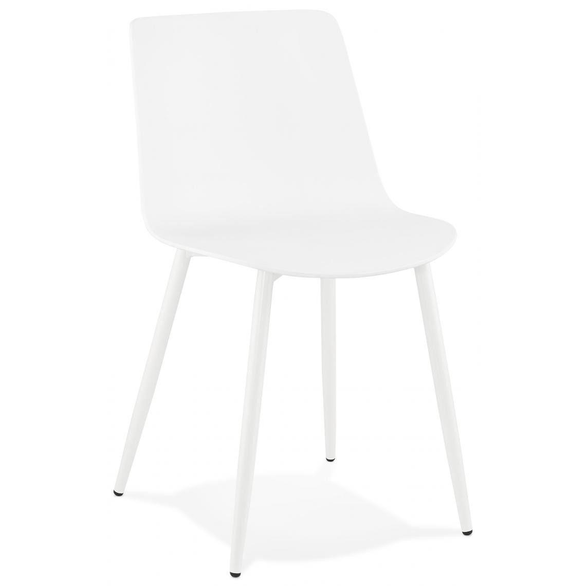 Chaise En Plastique Blanche Dossier Rectangulaire Flox En 2020 Chaise Design Chaise Cuisine Cuisine Moderne