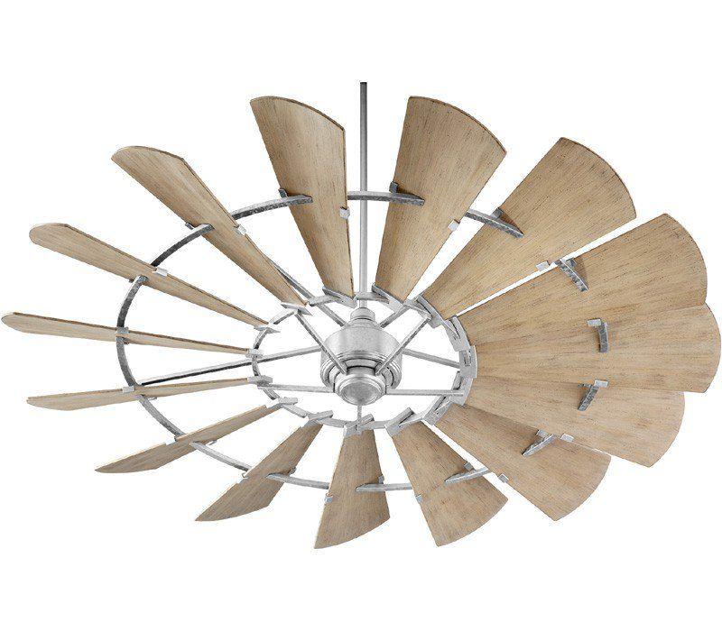 Quorum 197215 9 Windmill 72 Outdoor Ceiling Fan With Wall Control Galvanized Windmill Ceiling Fan Rustic Ceiling Fan Rustic Ceiling
