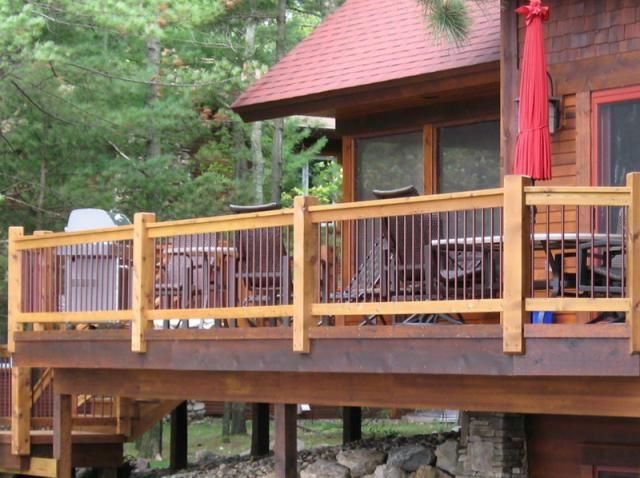 Deck Railing Design Ideas prowood micro pressure treated wood deck railing Prowood Micro Pressure Treated Wood Deck Railing