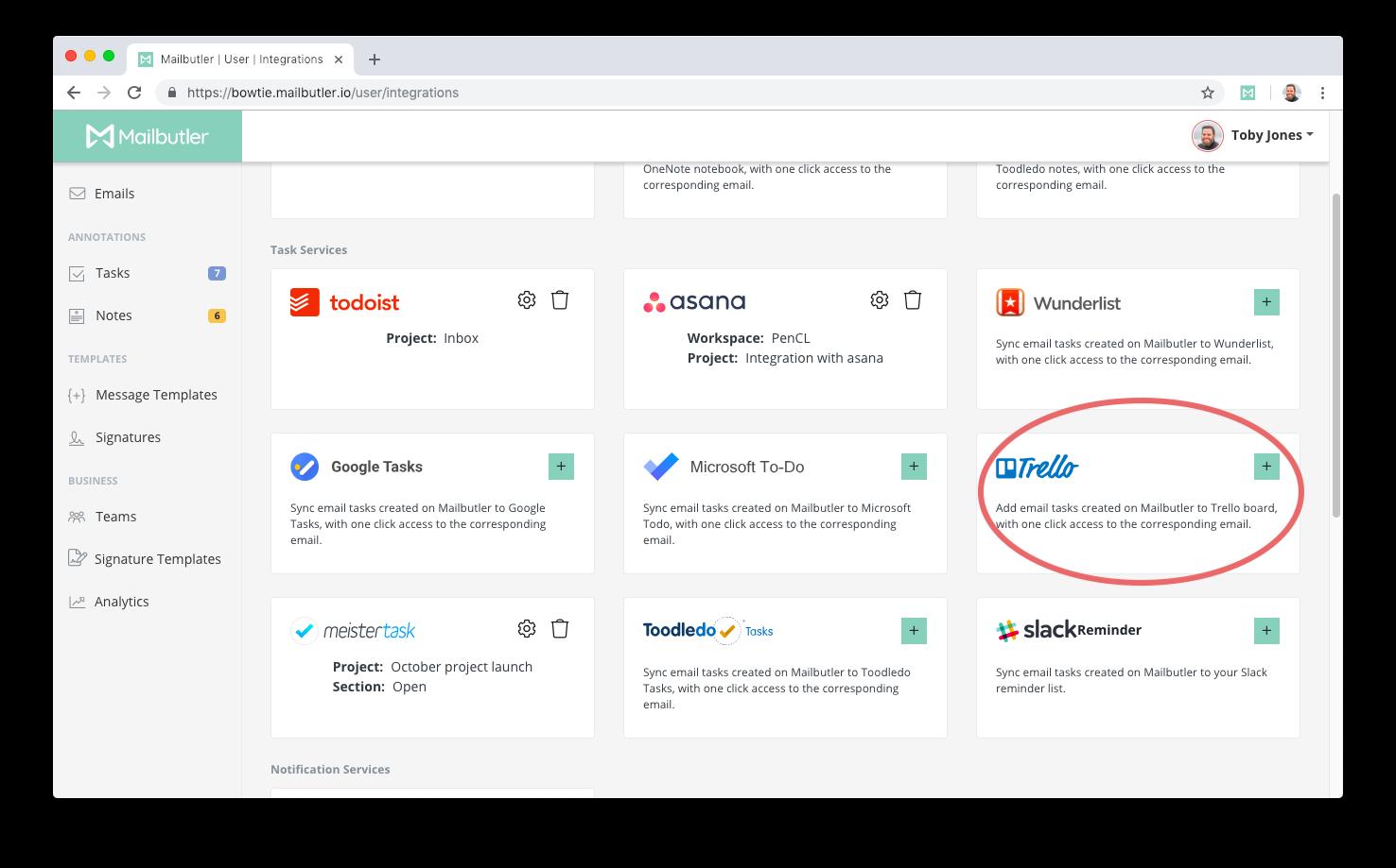 How do I link Mailbutler to Trello? Mailbutler Support