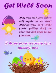 Get Well Soon Wishes Card   Google Search