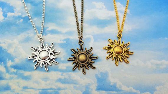 Sun Necklace Sunshine Jewellery Happy Gift by FairyFountainGifts