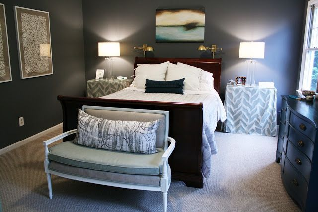 bryn alexandra our master bedroom benjamin moore gunmetal greek rh pinterest com