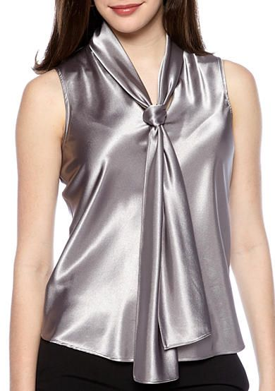 Free shipping on orders $99+, plus easy returns! Nine West Charmeuse Tie Neck Blouse: This silky-satin blouse features a stylish tie at the neckline. Wear it with a business suit for a chic look at the ...