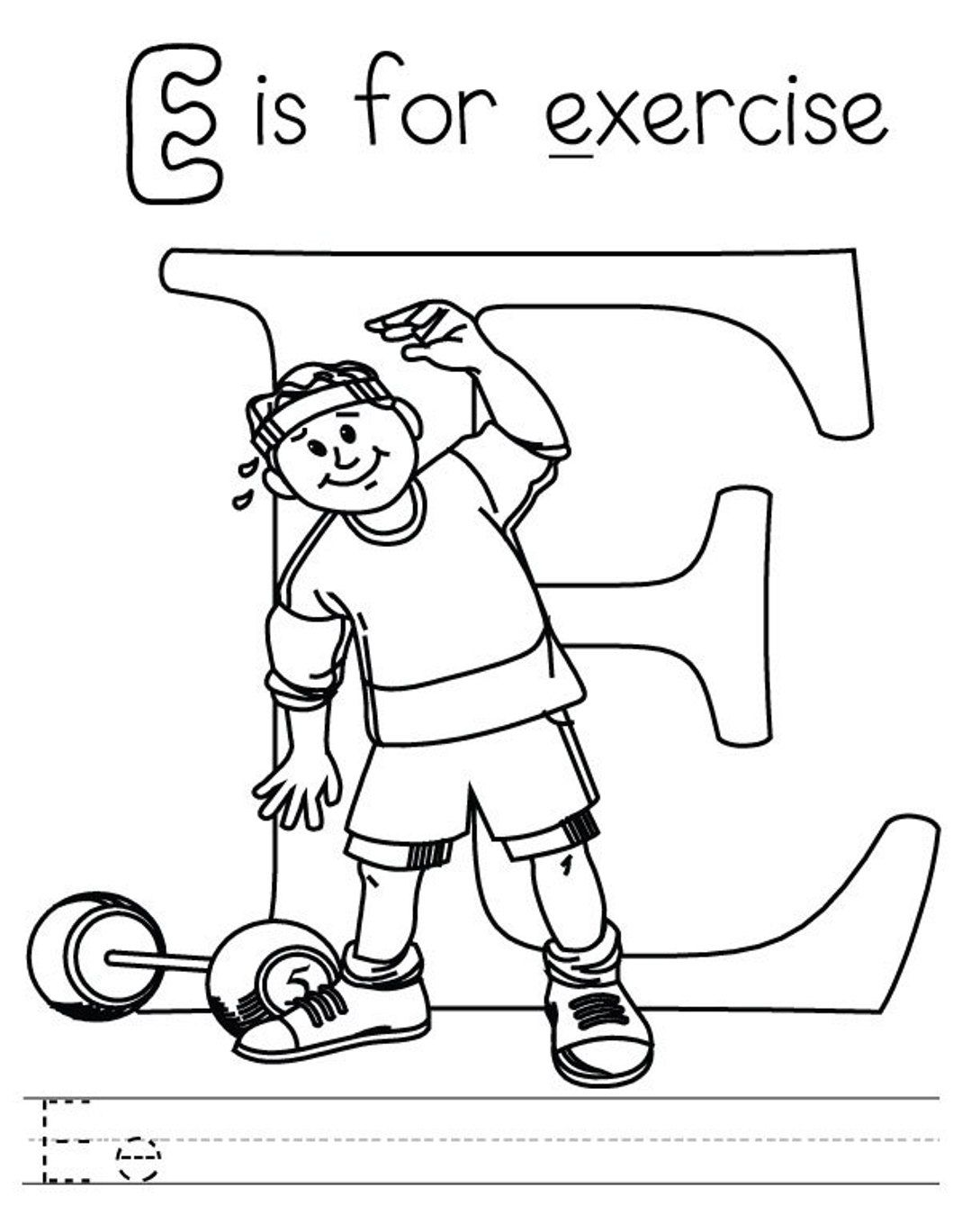 Fitness Coloring Pages Alphabet Coloring Pages Coloring Pages For Kids Alphabet Coloring
