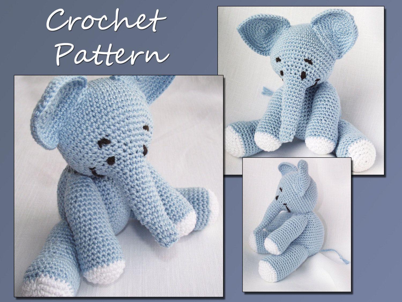Crochet Stuffed Elephant Pattern Cool Decoration