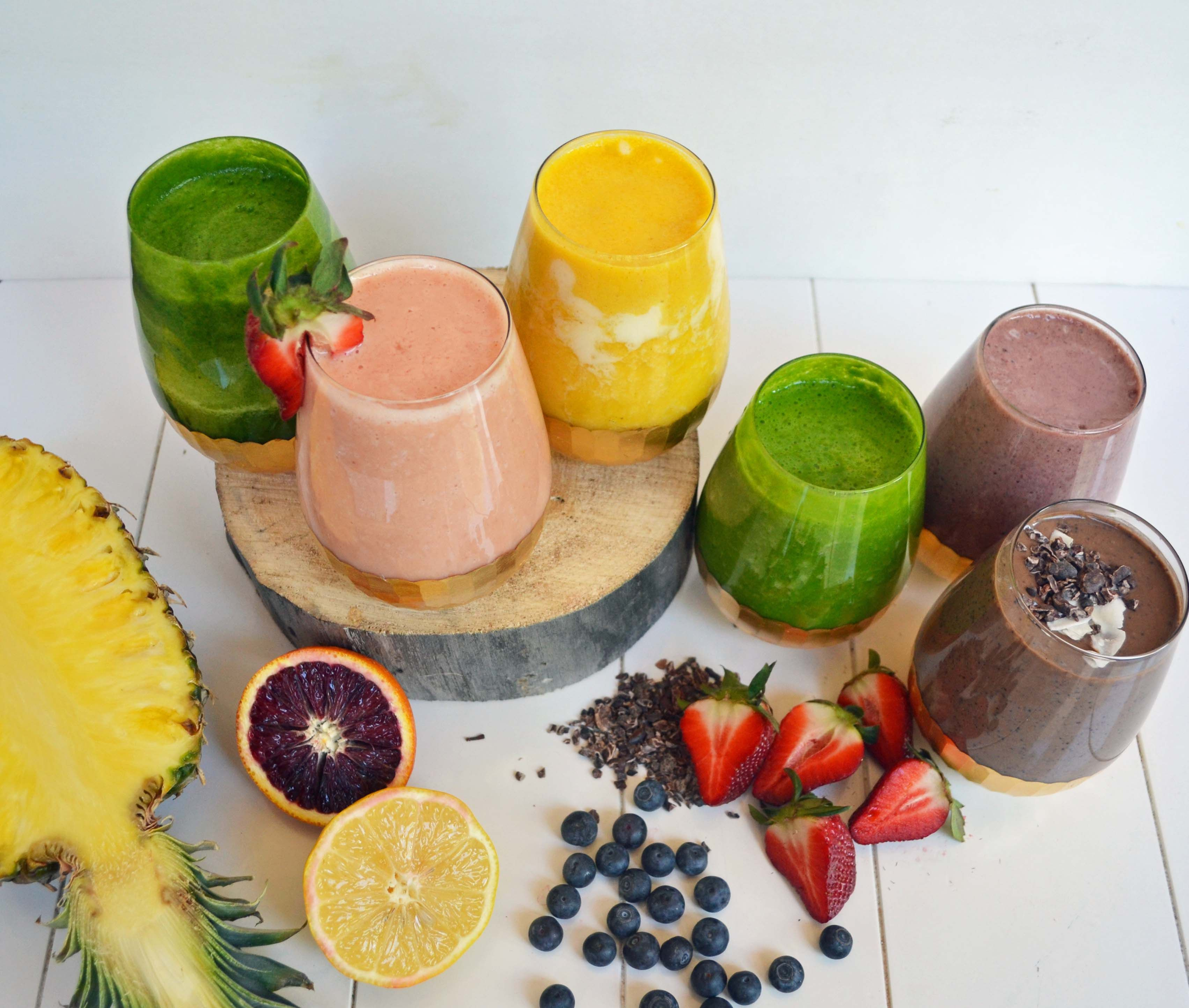 6 healthy superfood smoothies by modern honey www