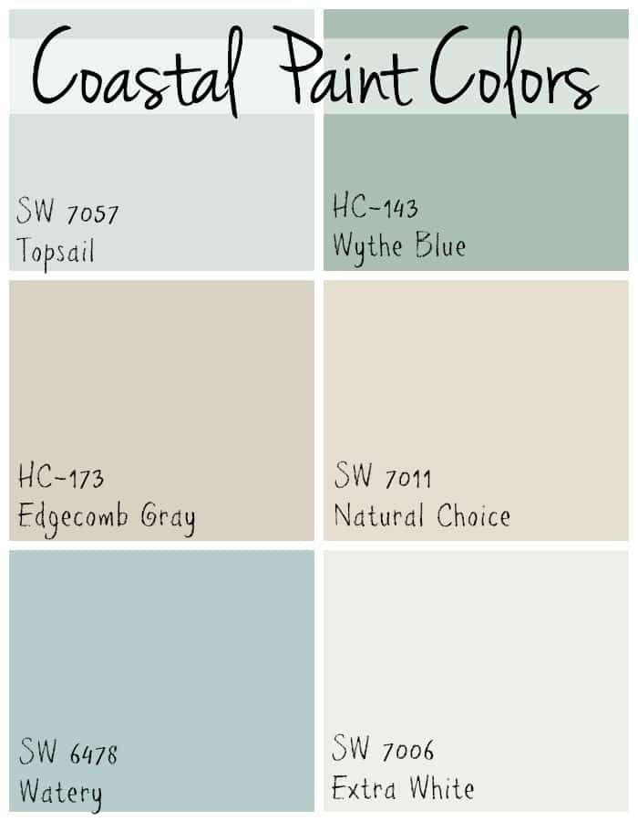 Coastal Paint Colors - The Lilypad Cottage