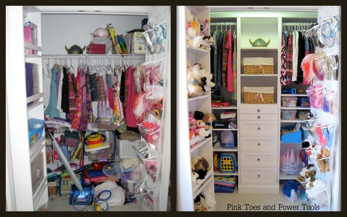 Before and After closet organizer