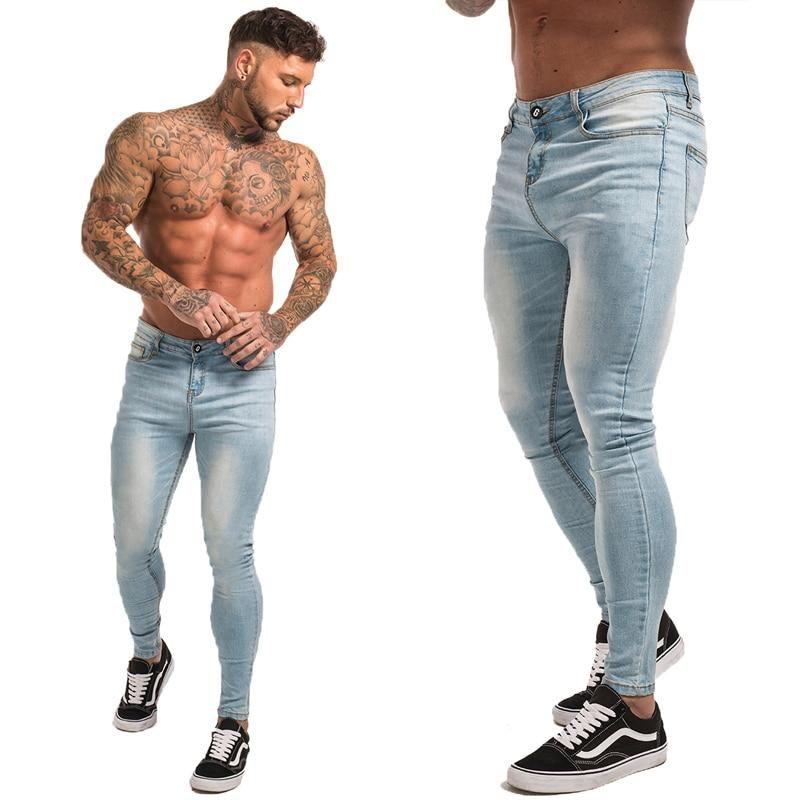 Blue Jeans Slim Fit Super Skinny Jeans Ropa De Moda Hombre Combinacion De Ropa Hombre Y Moda Ropa Hombre