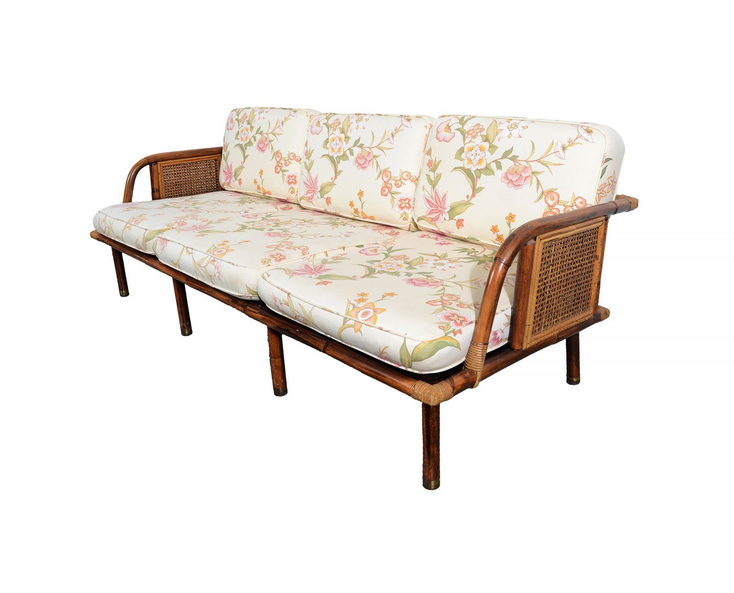 Ficks Reed Sofa Bamboo and Rattan by