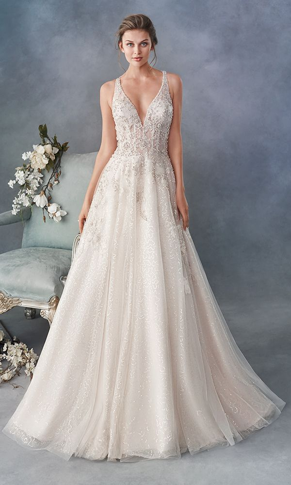 Strappy Bridal Gown J6580 From The Moonlight Collection Wedding Dresses Lace Elegant Wedding Dress Wedding Dresses