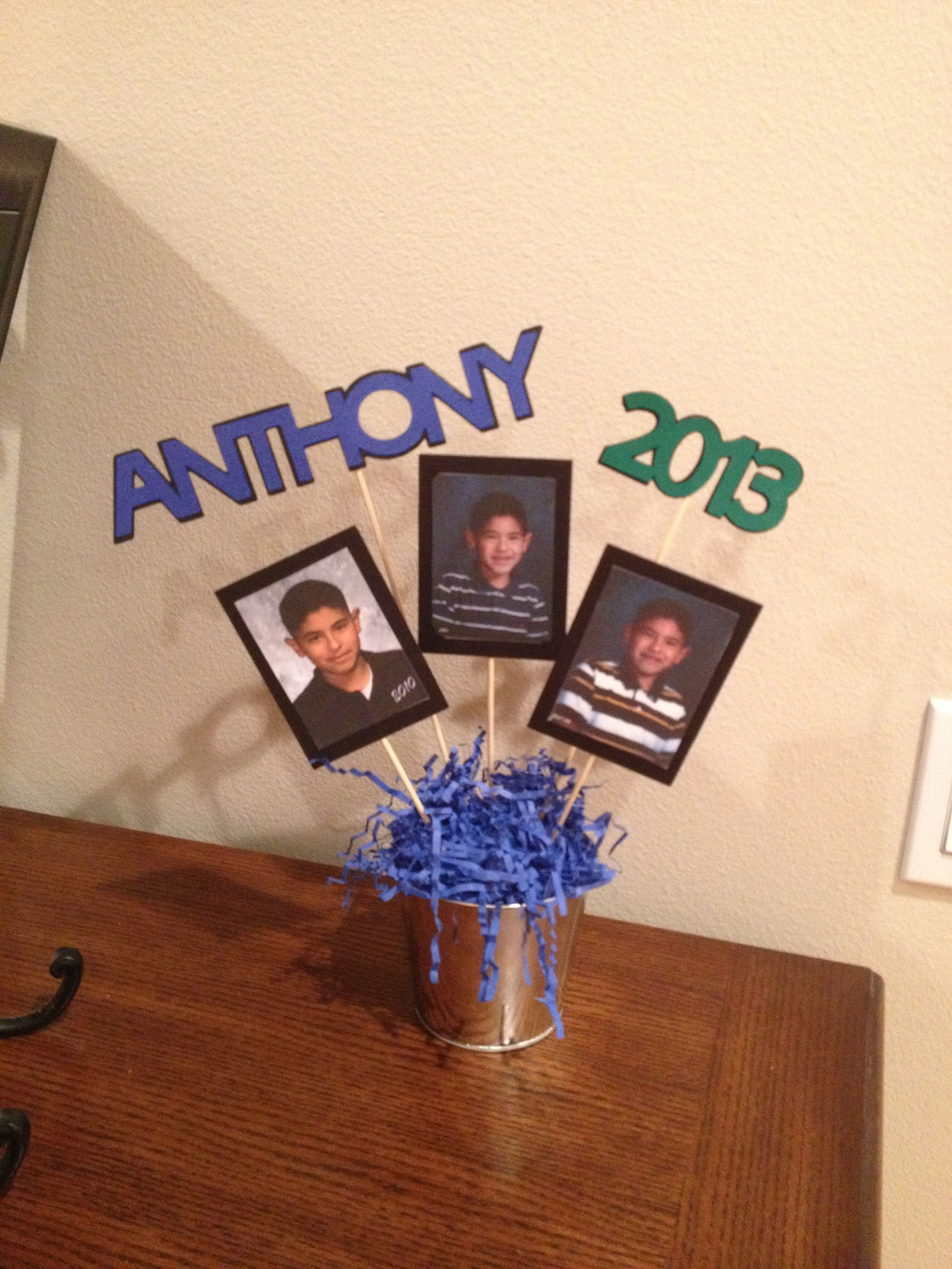 graduation centerpieces using school picture over the years my rh pinterest com