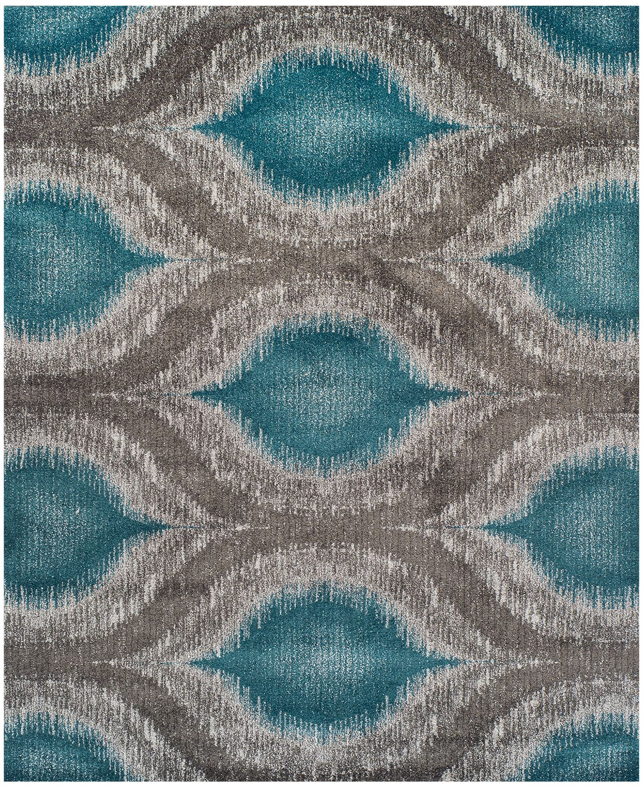 Dalyn Neo Grey Cove Teal 96 X 132 Area Rug