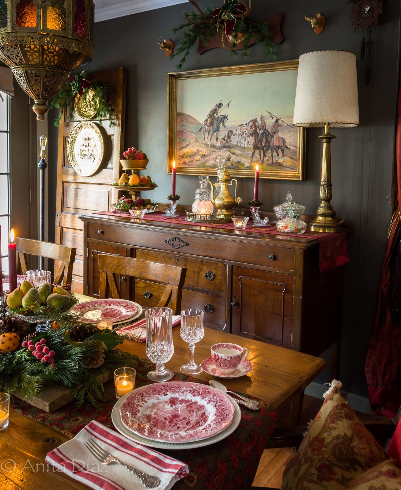 Cozy Christmas home (With images) Christmas dining room