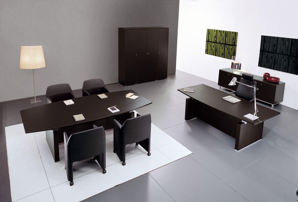 Modern Office Furniture design in Black wood