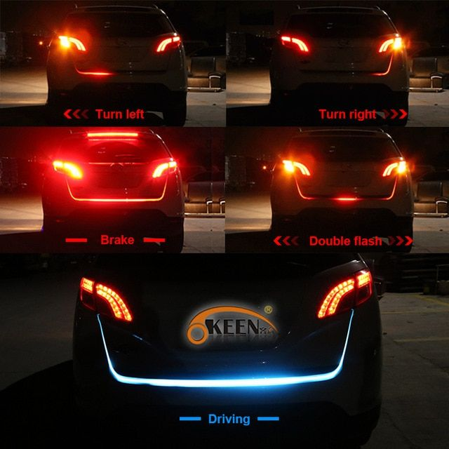 Okeen Led Trunk Light Strip Red Turn Signals Flowing Led