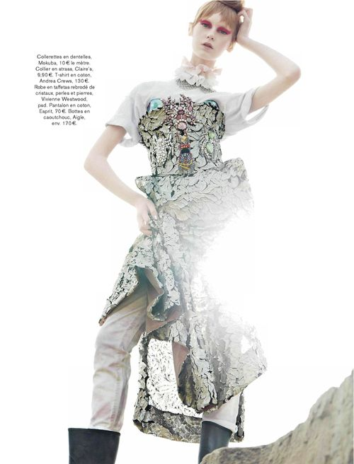 """Jemma Baines in """"Cosmic Girl"""" by Daniel Riera forGlamour France,May 2013"""
