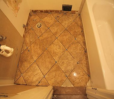 diy diagonal bathroom tiling tiling pinterest bathroom tiling rh pinterest com