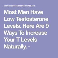 9 ways to increase testosterone