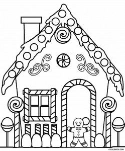 Gingerbread House Coloring Pages Christmas Coloring Sheets