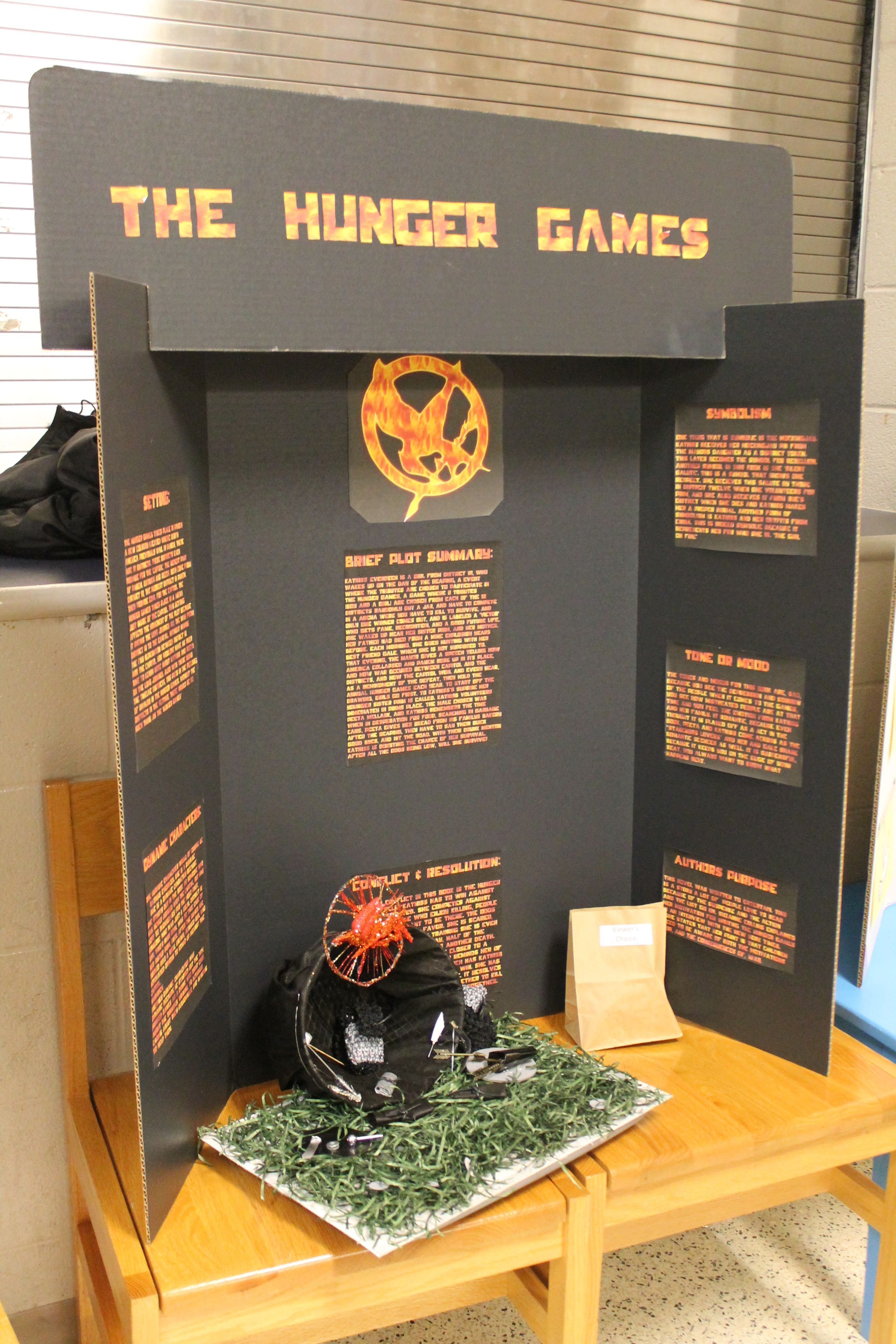 the hunger games reading fair project  middle school