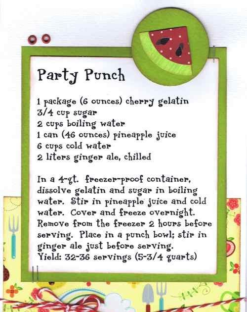 We have 2 new Recipe kits this week!!  Party Punch ~ $3.99 Strawberry Brownies ~ $3.99