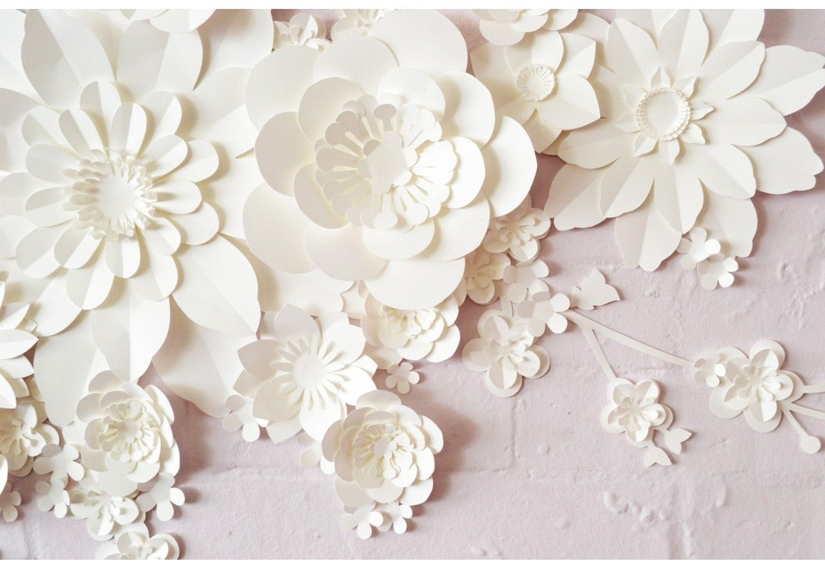 Handmade paper blossom wall decoration backdrop - Wall decorations - DECORATE