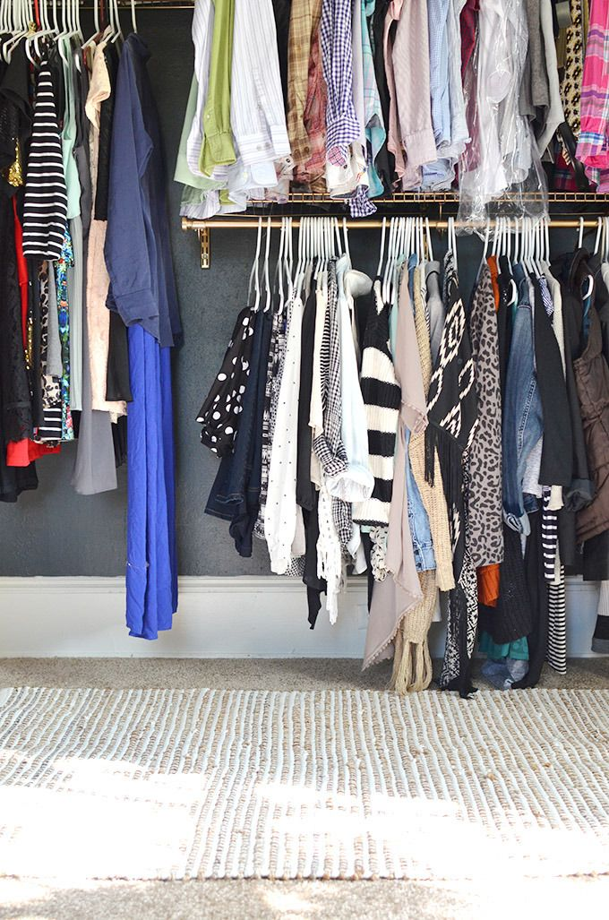DIY External Closet Organization System // Gold