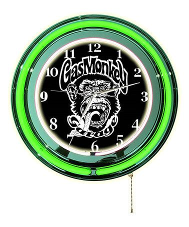 gas monkey garage neon clock