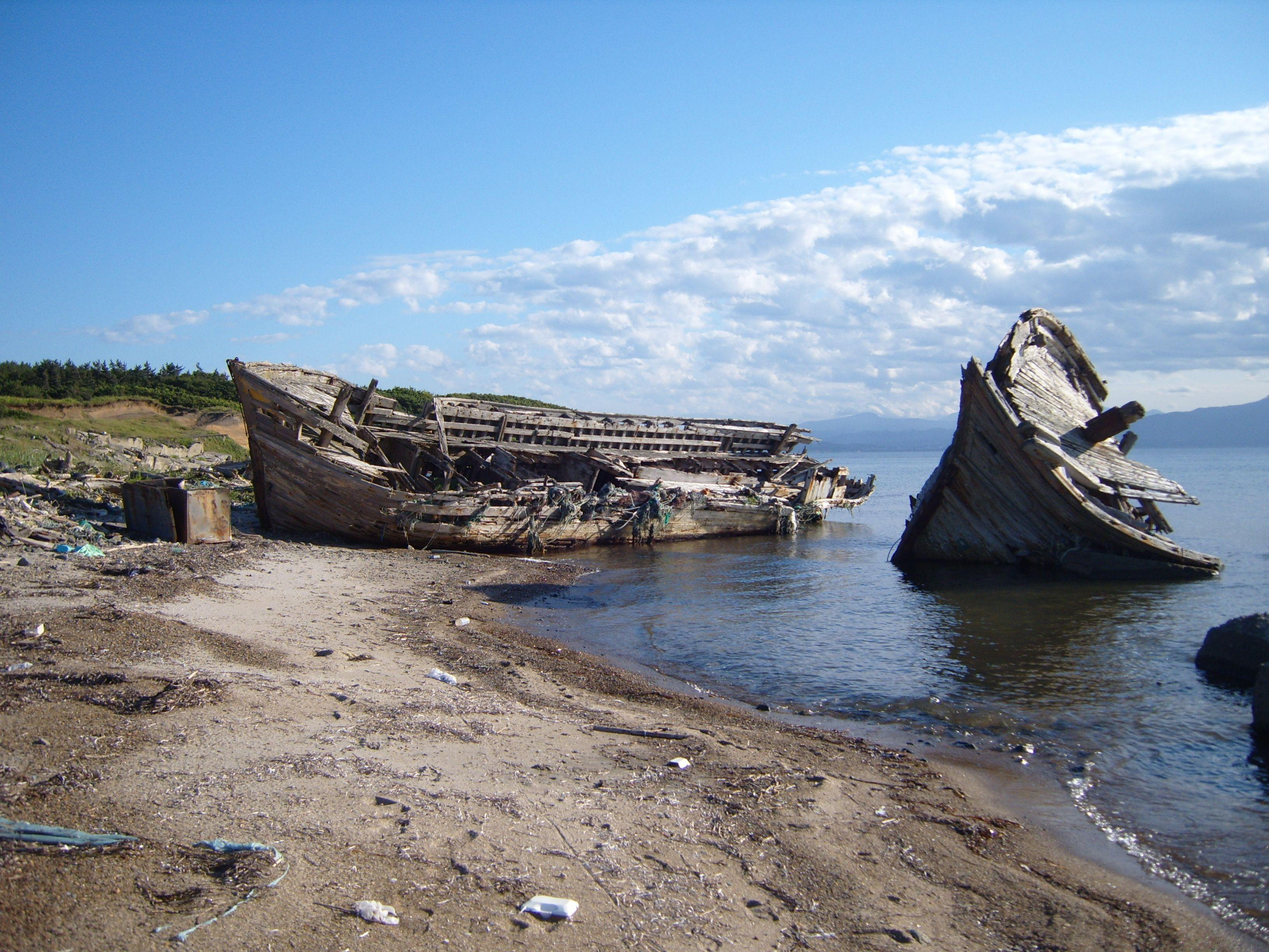 """""""Shipwreck Beach"""" in Noheji, Japan"""