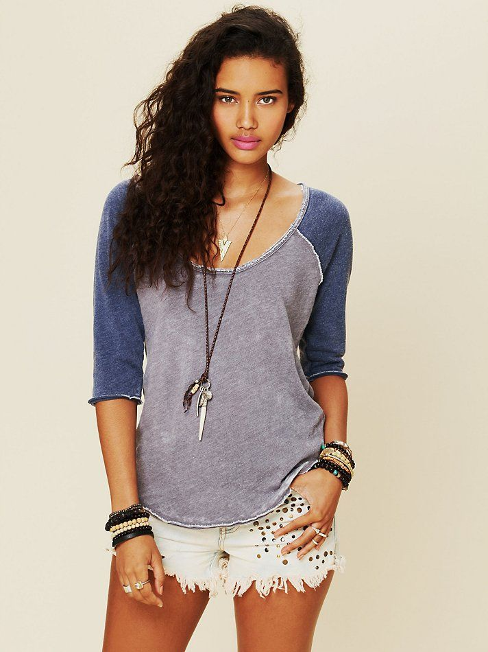 Love, Love, Love this shirt...    Free People We The Free Long Sleeve Cotton Candy Burnout Top at Free People Clothing Boutique