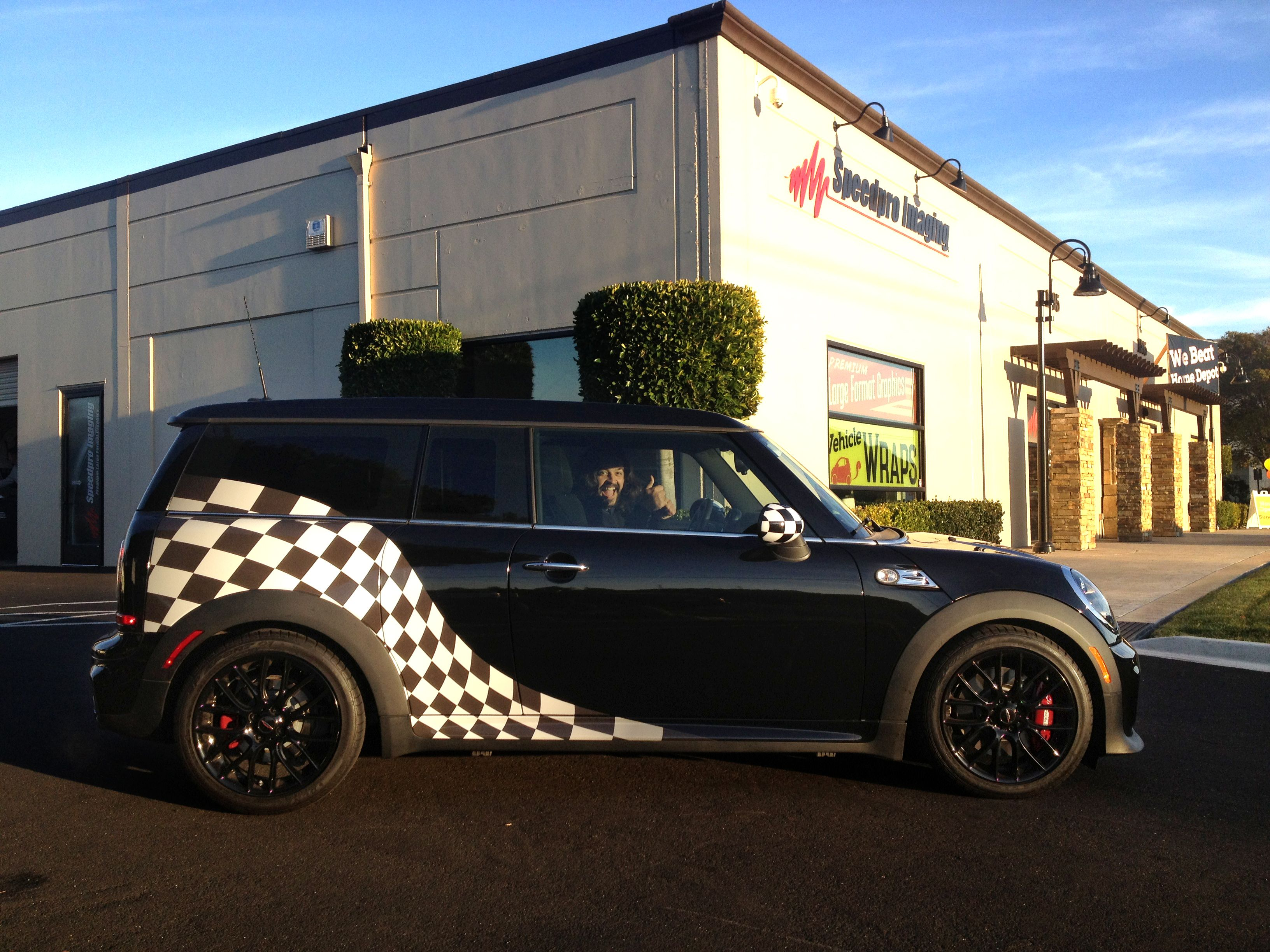 Love The Checkered Flag Graphics We Did For Our Client S Mini Vehiclegraphics Vehicleswraps Printing Signage Mark Car Graphics Yellow Cabs Checkered Flag [ 2448 x 3264 Pixel ]