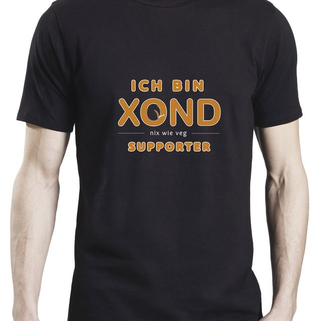 "Offizielles Herren-Supporter-Shirt ""Ich bin XOND Supporter"" - bio & fairtrade"