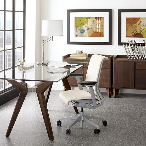 the perfect glass top desk for our home office desks pinterest rh pinterest com
