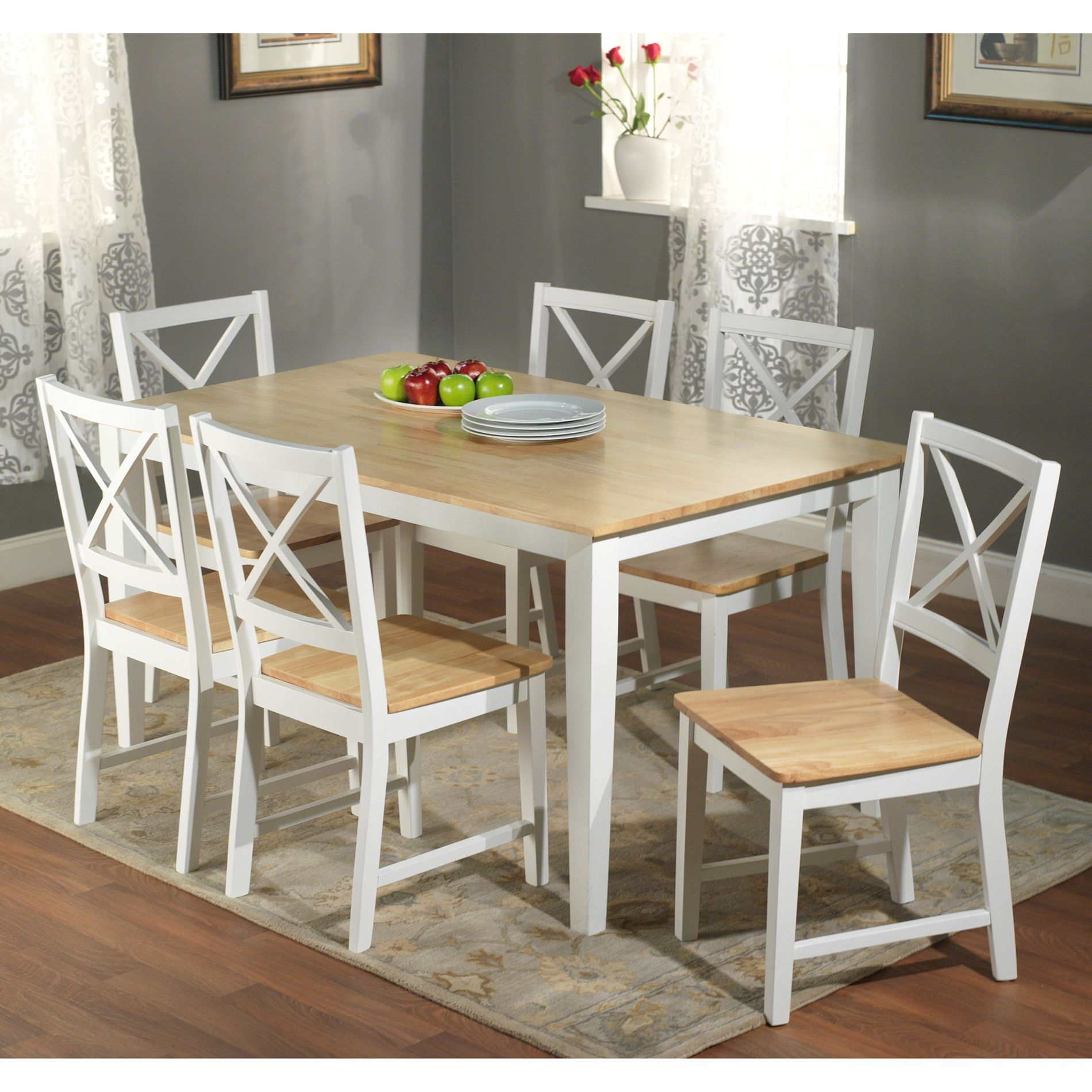 enhance your dining space with this beautiful 7 piece crossback rh pinterest com