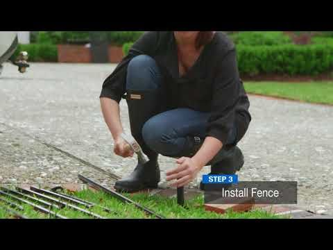 How to Install a No Dig Fence Lowes Grand Empire XL