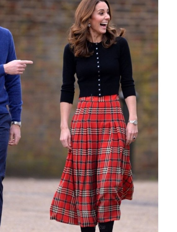 0c3a8ab4983 Kate Middleton red tartan plaid skirt inspired custom made in 2019 ...