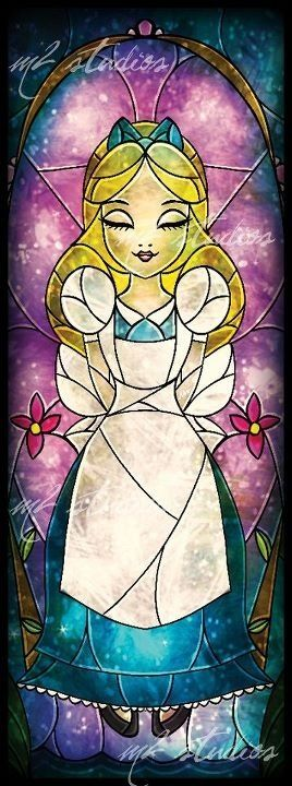Alice stainted glass