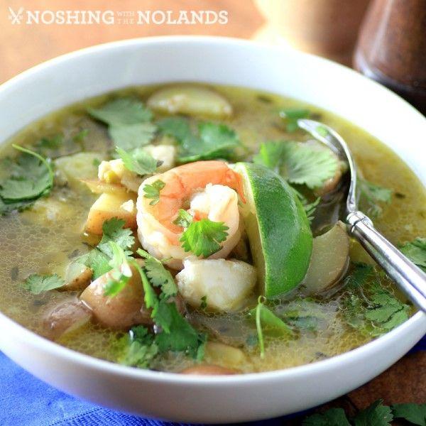 Peruvian Seafood Soup by Noshing.