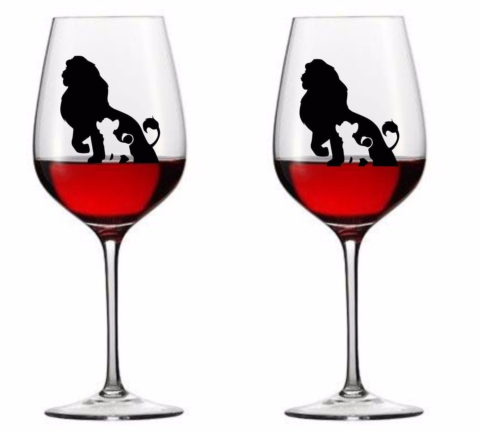2 99 Gbp 9 X Lion King Vinyl Decal Wine Glass Stickers Mug Ebay Home Garden Wine Glass Glass Lion King